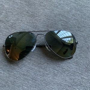 Ray-Ban- black aviator sunglasses